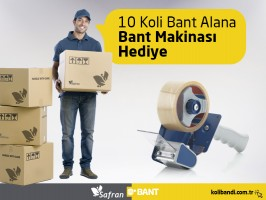 10 Koli Bant Alana, Bant Makinası Hediye